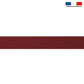 Sangle polyester aspect coton 30mm bordeaux