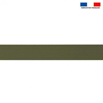 Sangle polyester aspect coton 30mm vert kaki