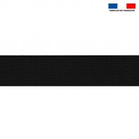 Sangle polyester aspect coton 40mm noir