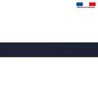 Sangle polyester aspect coton 30mm bleu marine