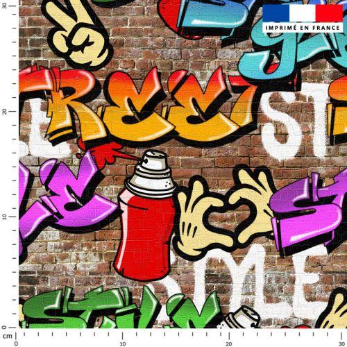 Street art graffiti style - Fond effet mur de brique