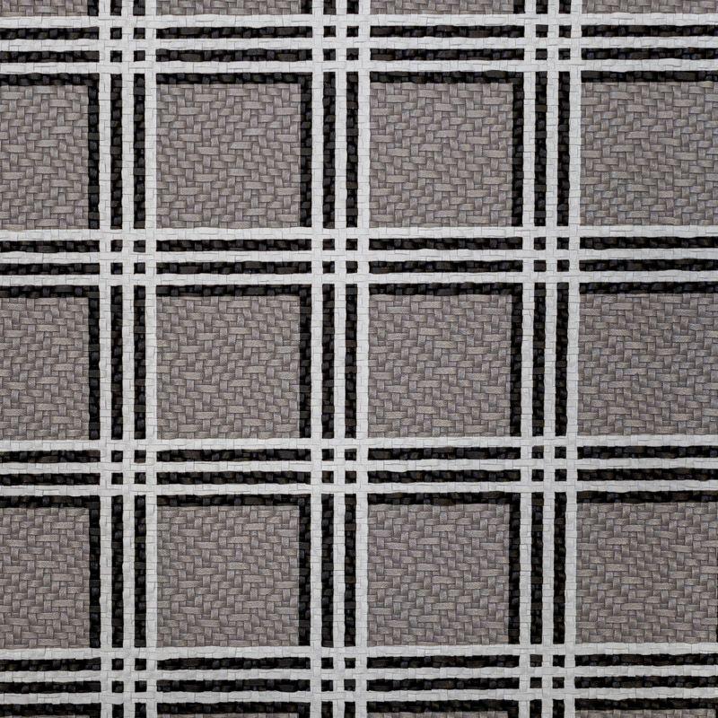 Simili cuir gris motif tartan noir et blanc