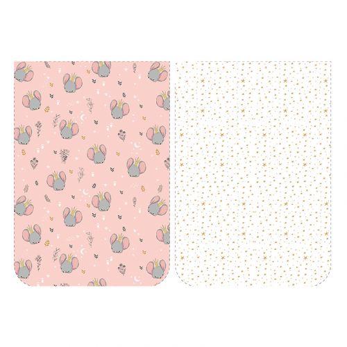 Lot de 5 coupons éponge pour serviettes de table pour enfant motif enfantin