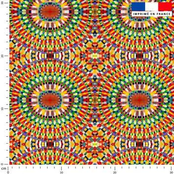 Arcs de cercles jaunes rouges et verts - Création Lita Blanc