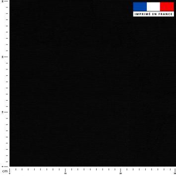 Tissu imperméable noir uni