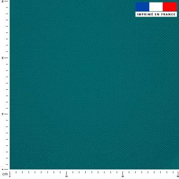 Tissu imperméable bleu pétrole uni