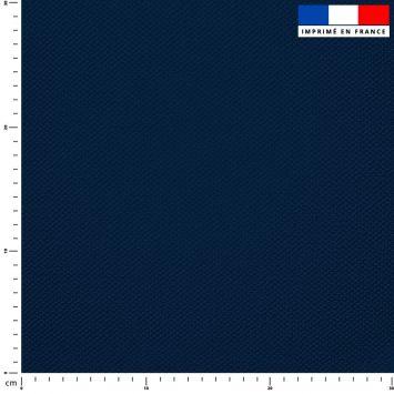 Tissu imperméable bleu marine uni