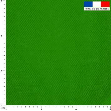 Tissu imperméable vert prairie uni