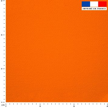 Tissu imperméable orange uni