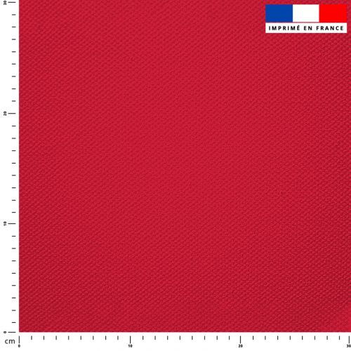 Tissu imperméable rouge groseille uni
