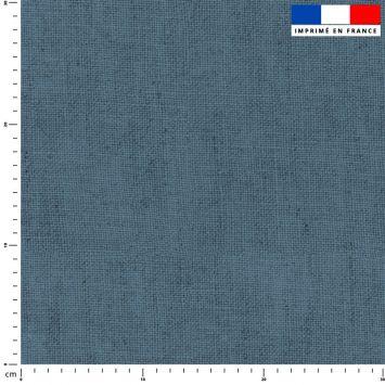 Tissu imperméable aspect lin bleu jean