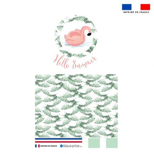 Kit pochette vert motif hello summer
