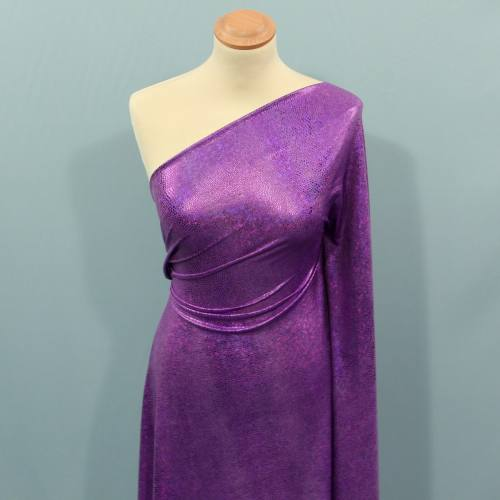 Lycra imitation serpent violet