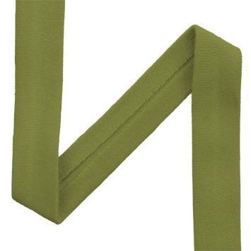 Biais jersey vert olive 20mm