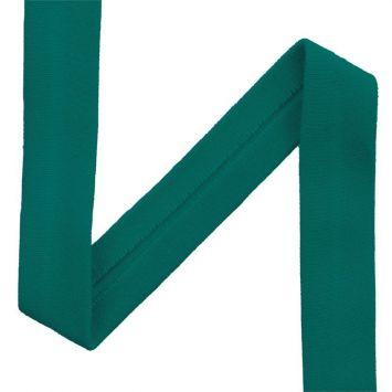 Biais jersey vert canard 20mm