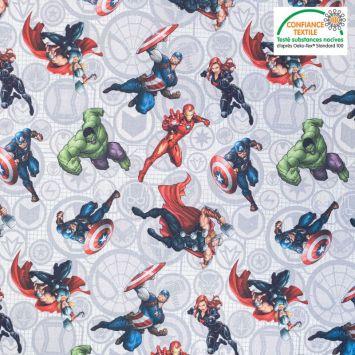 Coton motif Avengers Oeko-Tex
