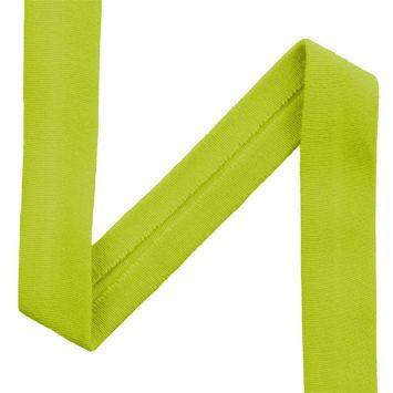 Biais jersey vert anis 20mm