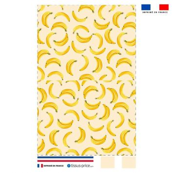 Kit pochette écru motif banane