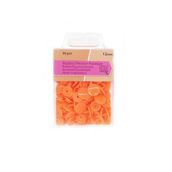 Boutons pression plastique x30 orange
