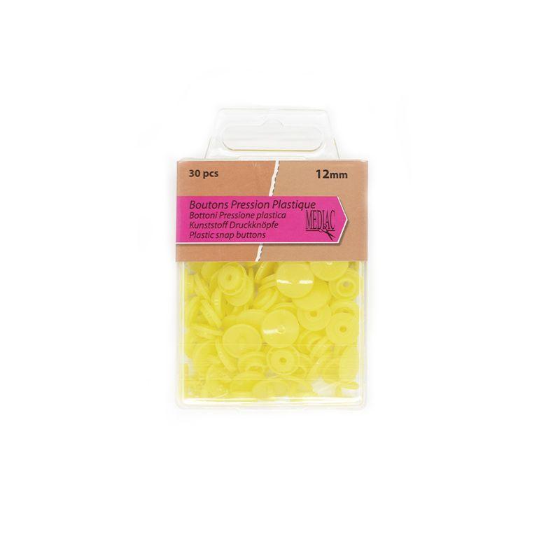 Boutons pression plastique x30 jaune