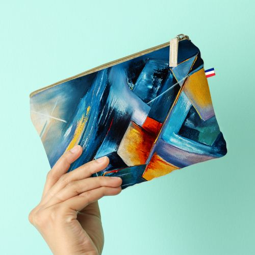 Kit pochette motif Profondeur et Equilibre - Création Monique.D