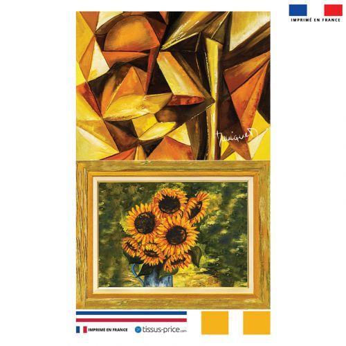 Kit pochette motif Tournesol - Création Monique.D