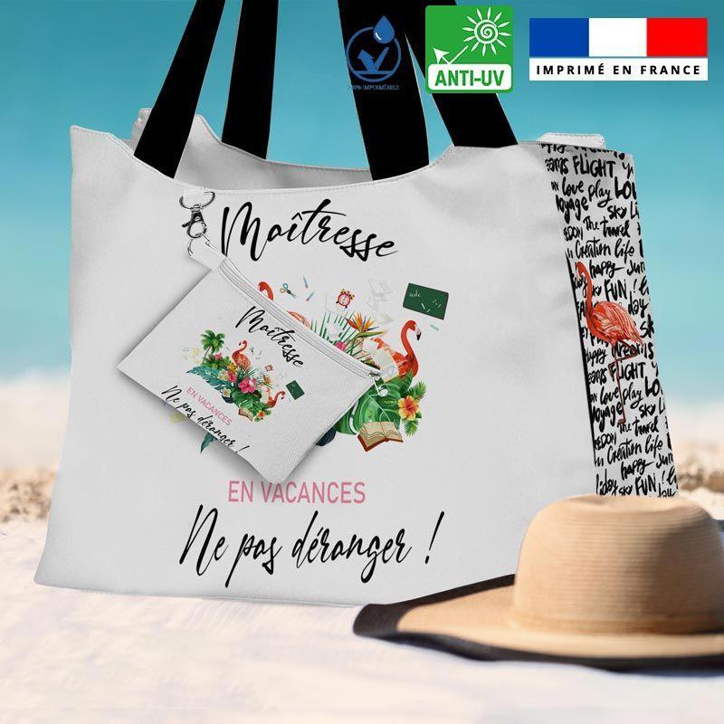 Kit sac de plage imperméable motif maîtresse - Queen size