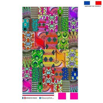 Kit pochette motif wax patchwork
