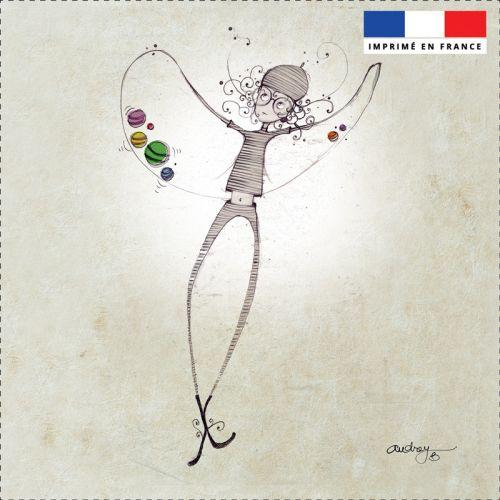 Coupon toile canvas danseuse - Création Audrey Baudo