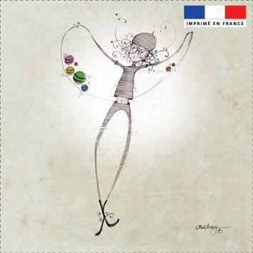 Coupon toile canvas danseuse - Audrey Baudo