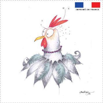 Coupon toile canvas poulette - Audrey Baudo