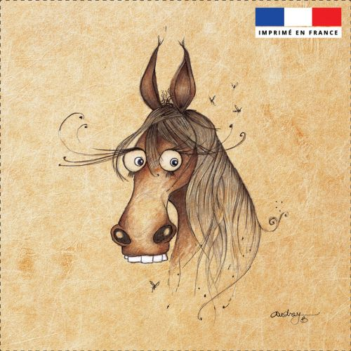 Coupon toile canvas cheval - Création Audrey Baudo