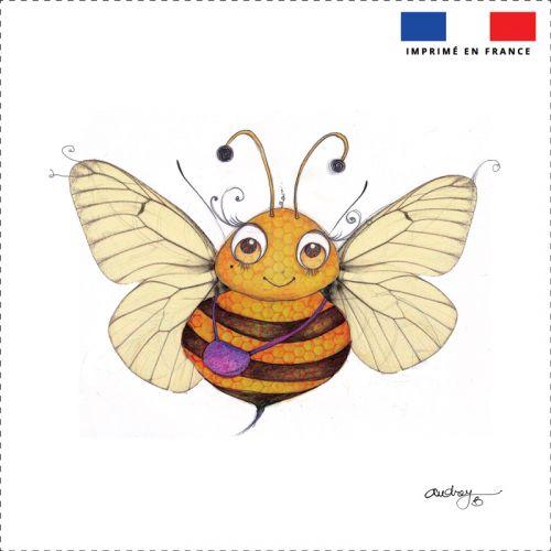 Coupon motif abeille - Création Audrey Baudo
