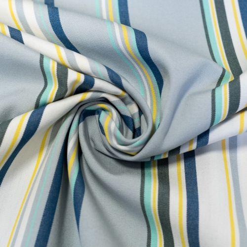 Toile extérieure Téflon grande largeur Aqqua rayures bleues