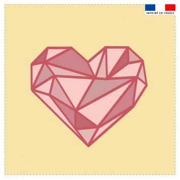 Coupon 45x45 cm motif cœur géométrique