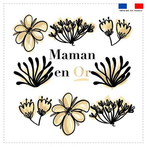 Coupon 45x45 cm motif maman en or