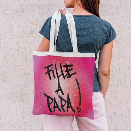 Coupon 45x45 cm rose motif fille à papa - Création Alex Z