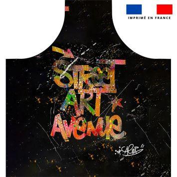 Patron imprimé sur canvas pour tablier motif street art avenue - Création Alex Z