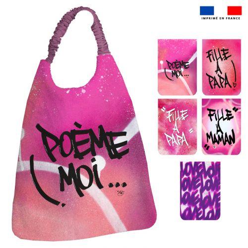 Lot de 5 coupons éponge pour serviettes de table pour enfant motif graffiti - Création Alex Z