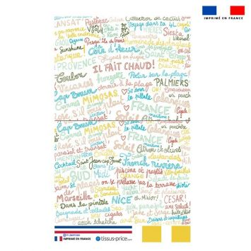 Kit pochette blanc motif Il Fait Chaud ! - Création Lou Picault