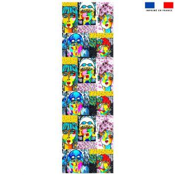 Coupon 45x150 cm tissu imperméable motif femmes modernes pour transat - Création Razowsky