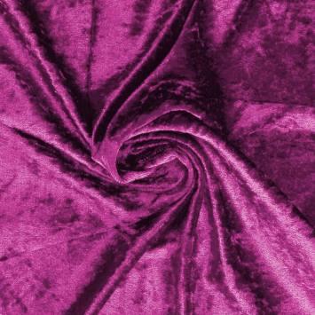 Panne de velours rose camélia