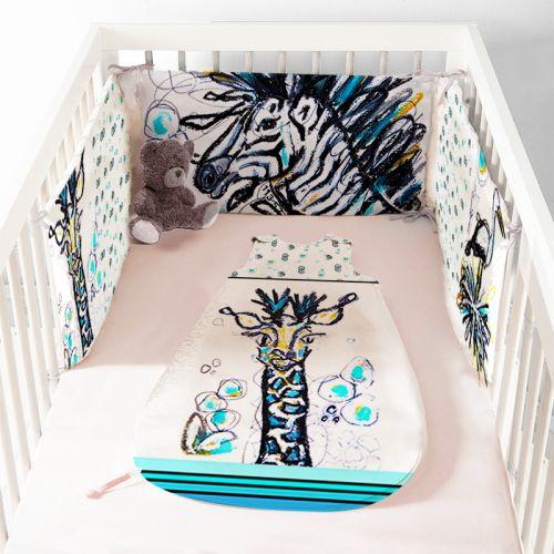 Coupon velours d'habillement pour tour de lit motif animaux - Création Razowsky