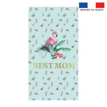 Coupon éponge pour serviette de plage simple motif best mom