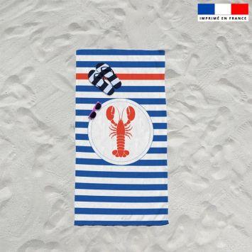 Coupon éponge pour serviette de plage simple motif homard