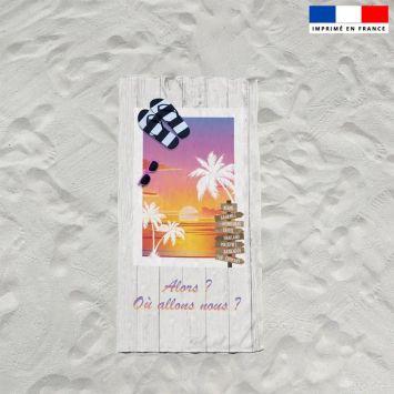 Coupon éponge pour serviette de plage simple motif coucher de soleil
