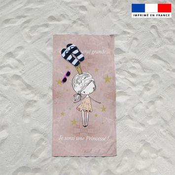 Coupon éponge pour serviette de plage simple motif princesse