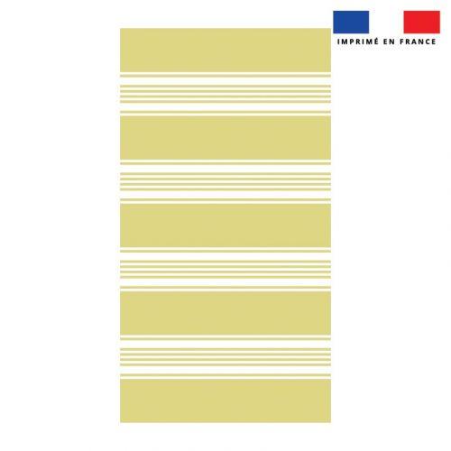Coupon éponge pour serviette de plage simple jaune motif fouta symétrique