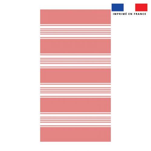 Coupon éponge pour serviette de plage simple rouge motif fouta symétrique