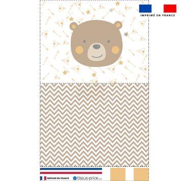 Kit pochette motif baby marron et ocre